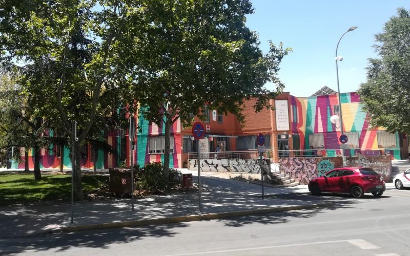 Boa Mistura recupera el mural del Parque de Asturias después de que lo estropearan unos grafiteros