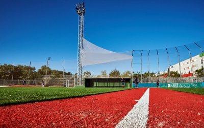 De la tierra a la hierba: los campos ripenses de béisbol y sófbol se 'visten' de césped