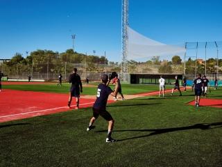 campo beisbol sofbol rivas hierba