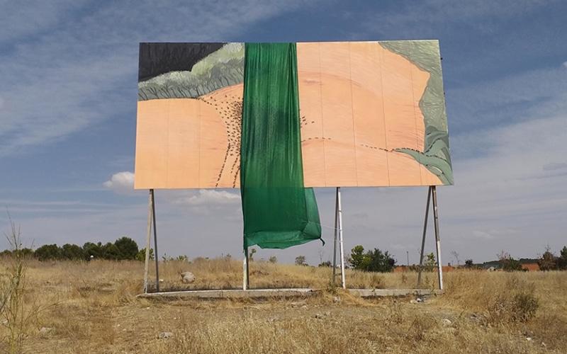 Segunda polémica en menos de dos semanas por el proyecto de arte urbano en Rivas: 'El origen del mundo' de Courbet, tapado y reubicado