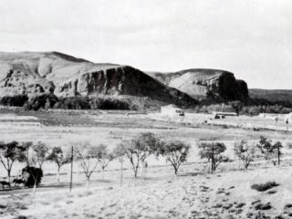 Vista del primer casco urbano de Rivas, en 1920