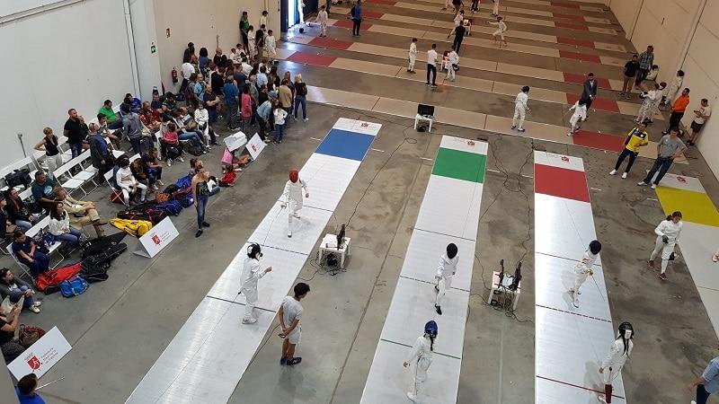 competición nacional de la federación madrileña de esgrima en Rivas