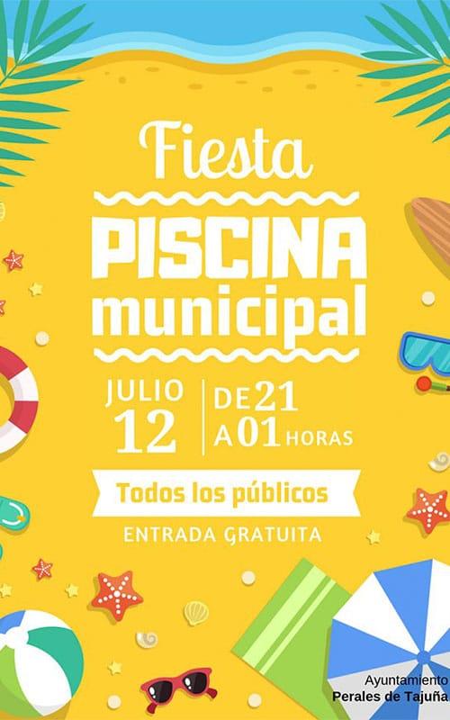Fiesta en la piscina. Ayuntamiento Perales de Tajuña.