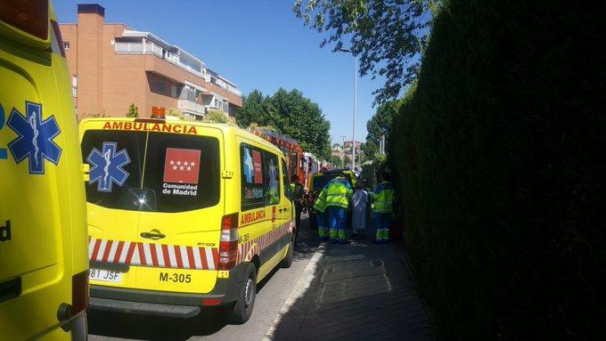 Un incendio en Rivas se salda con diez personas atendidas por inhalación de humo