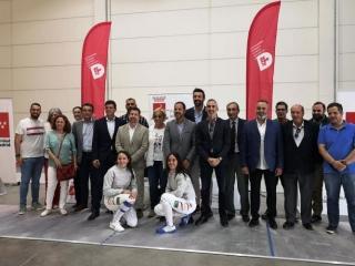 inauguración oficial de la sala de esgrima profesional en Rivas