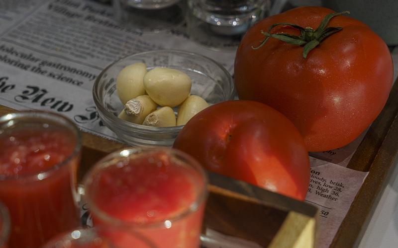 tomate ajo detox desayuno buffet hotel ab rivas