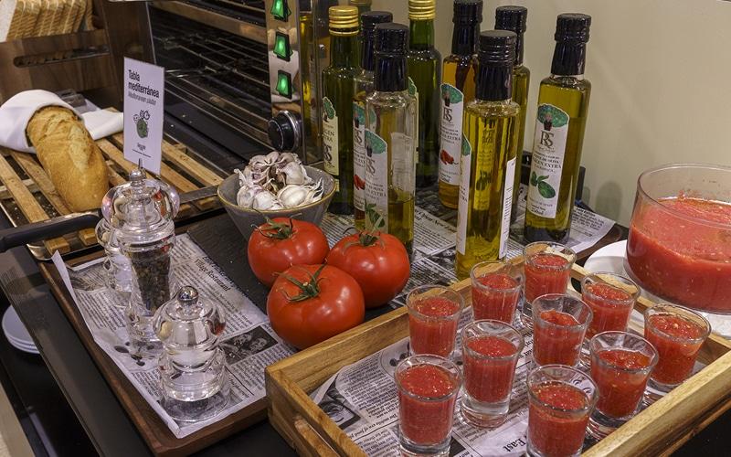 tomates ajos comida mediterranea hotel ab arganda
