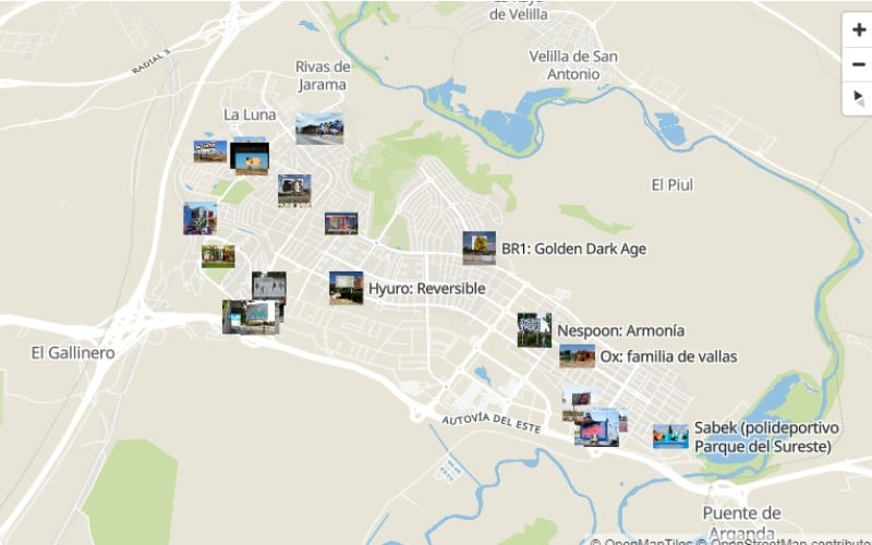 El nuevo mapa del arte urbano en Rivas Vaciamadrid