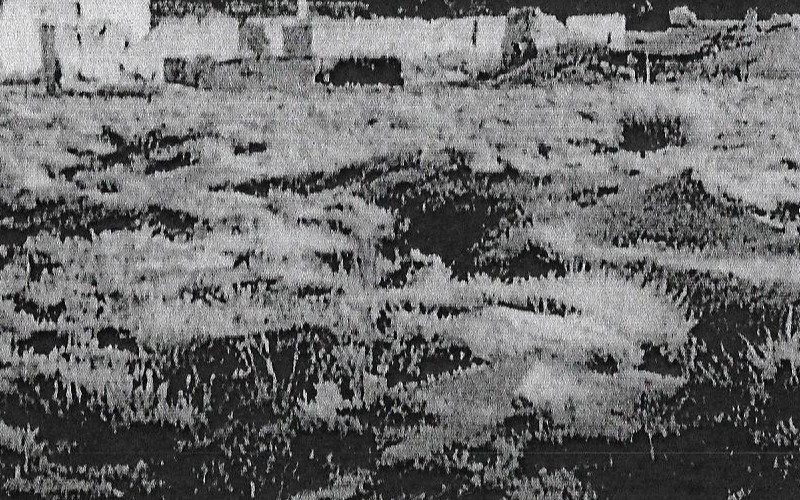 Ruinas de Vaciamadrid tras la Guerra Civil