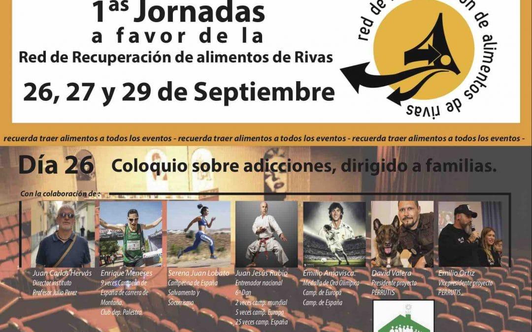 Charla sobre adicciones, concierto y fútbol a favor de la Red de Recuperación de Alimentos de Rivas