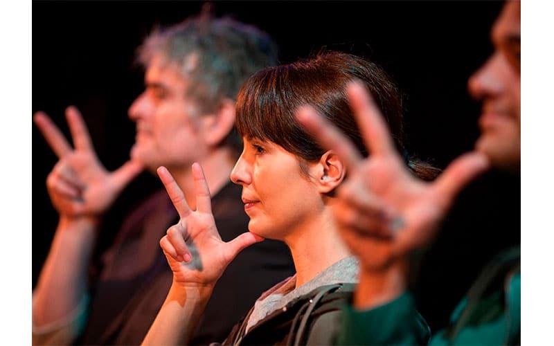Teatro inclusivo. Lenguaje de signos.