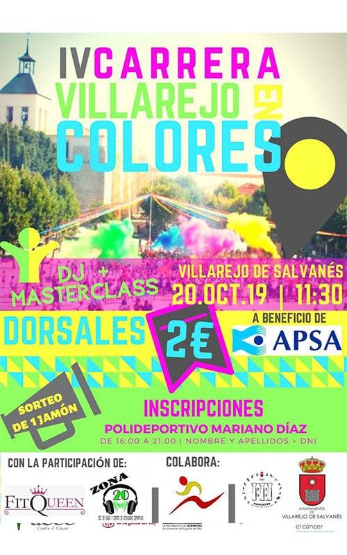 Villarejo de Salvanés. Carrera en colores.