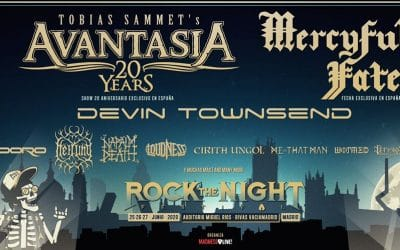 Avantasia y Mercyful Fate encabezan el cartel del Rock the Night Festival 2020 en Rivas