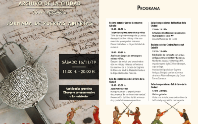 Esgrima, juegos de armas y recreaciones históricas, este sábado el 30º Aniversario del Archivo de Arganda