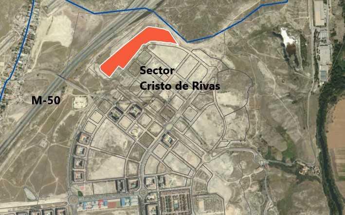 Parcela RS-VIV-1, en el sector Cristo de Rivas, donde se edificarán viviendas del Plan Vive