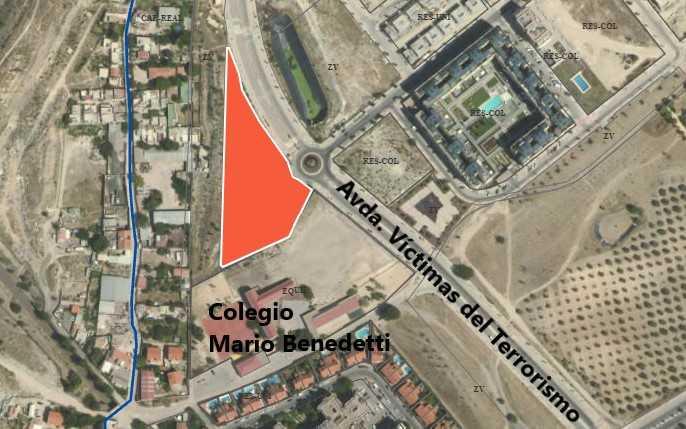 Parcela SUS PP C La Fortuna, en la Fortuna (Rivas), donde se edificarán viviendas del Plan Vive
