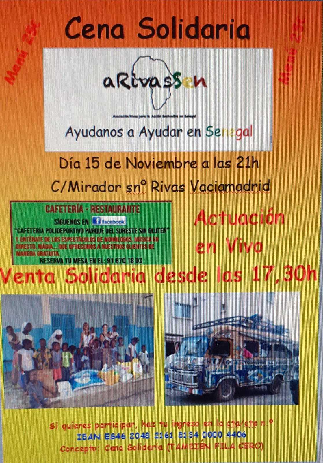 Cena solidaria A Rivas Sen
