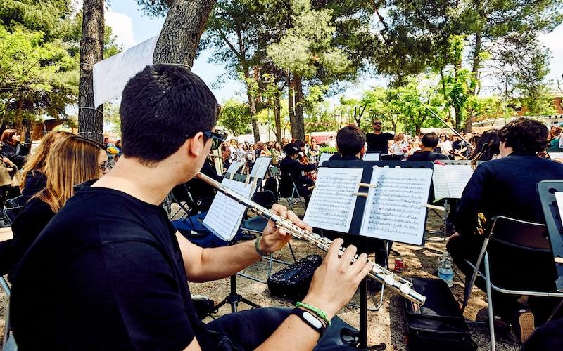 La banda de la Escuela Municipal de Música ofrece un concierto didáctico