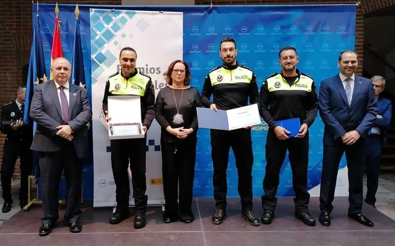 Premios agentes tutores Policía Local de Rivas