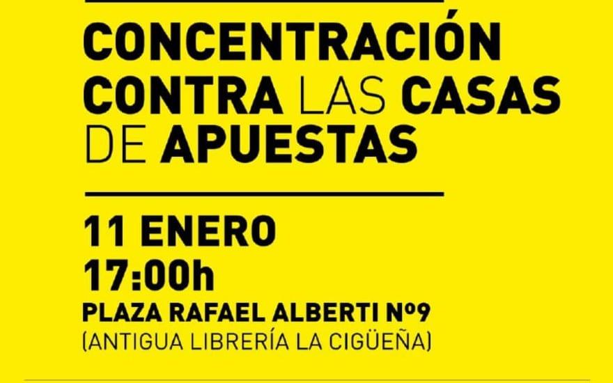 Concentración contra las casas de apuestas en Rivas