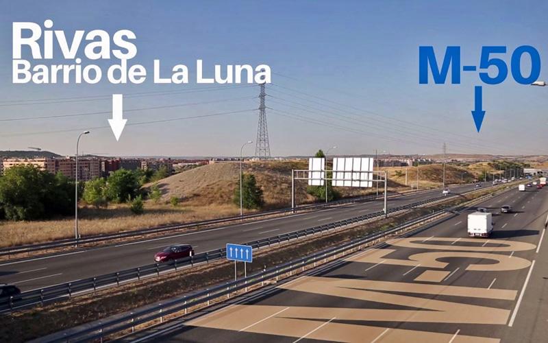 M-50 y barrio de La Luna (foto: Ayuntamiento de Rivas Vaciamadrid)
