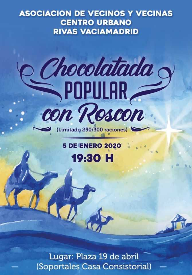 Chocolatada popular roscón Rivas pueblo