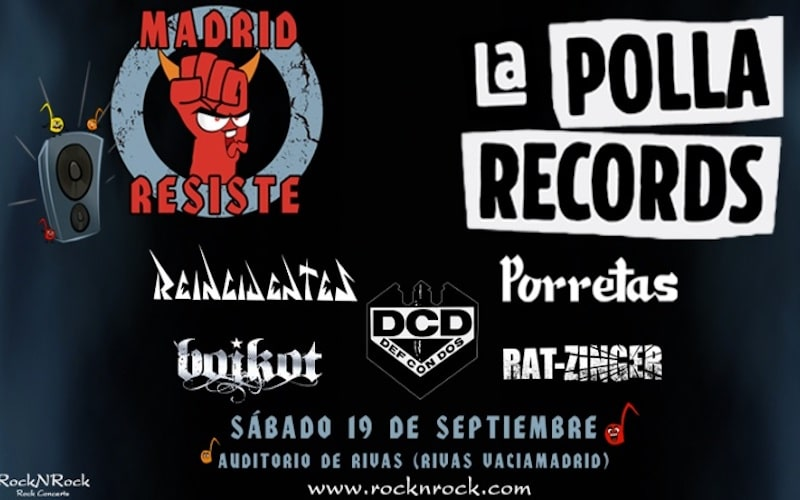 CANCELADO / La Polla Records o Def con Dos, primeras confirmaciones del festival Madrid Resiste