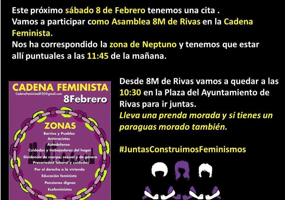 El 9M de Rivas en la Cadena Feminista