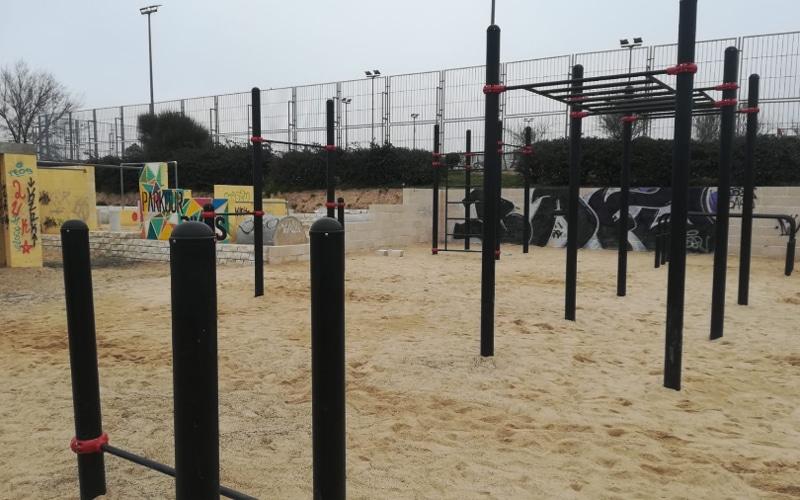 Un nuevo parque de calistenia frente a la Casa + Grande