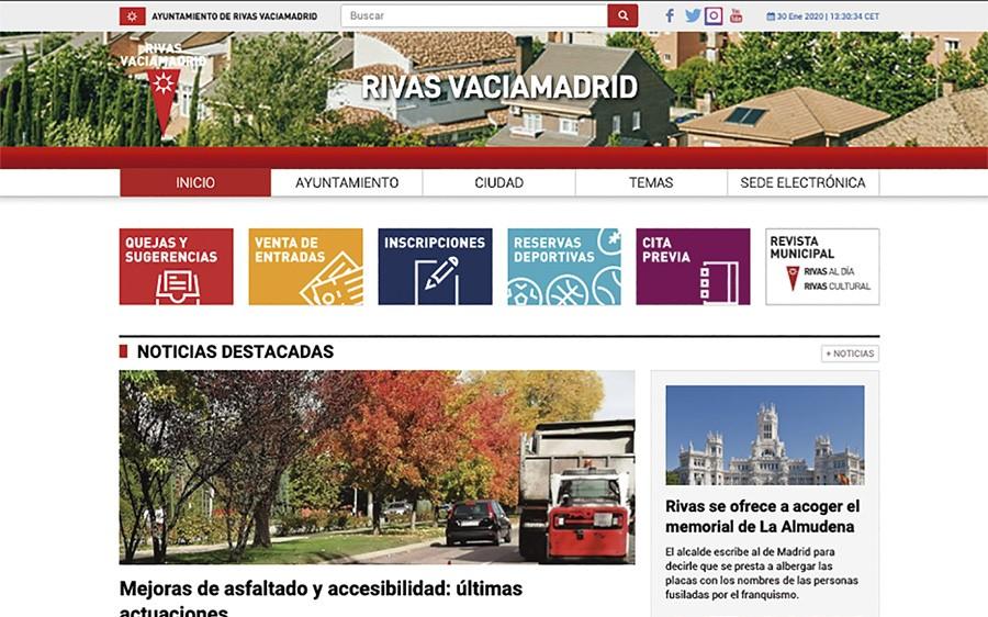 El Ayuntamiento de Rivas estrena su nueva web