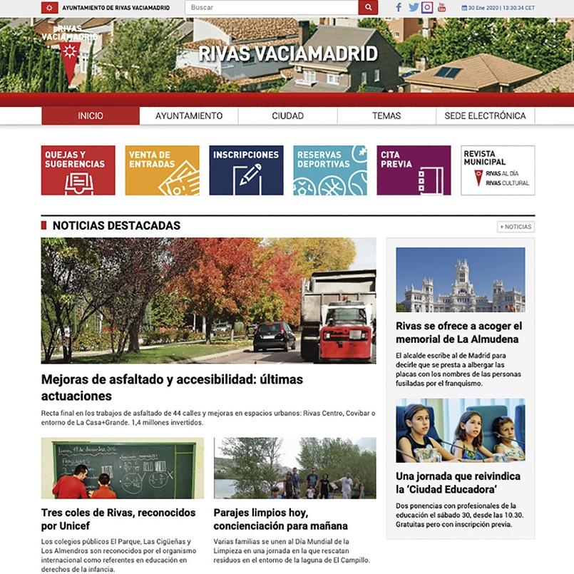 Nueva web del Ayuntamiento de Rivas Vaciamadrid