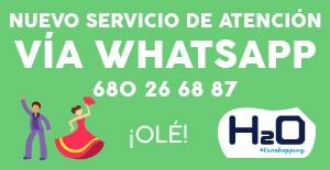 Nuevo servicio de atención por Whatsapp en el Centro Comercial H2O