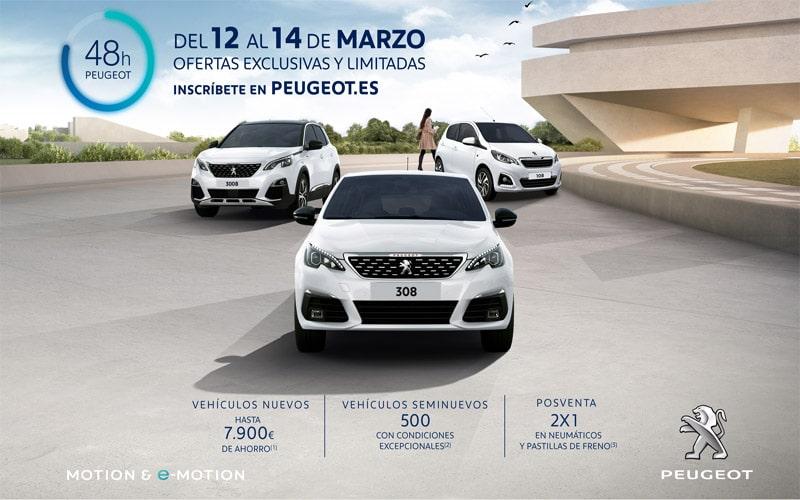 Vuelven las 48 horas Peugeot a Iluscar: descuentos de hasta 7.900 euros del 12 al 14 de marzo