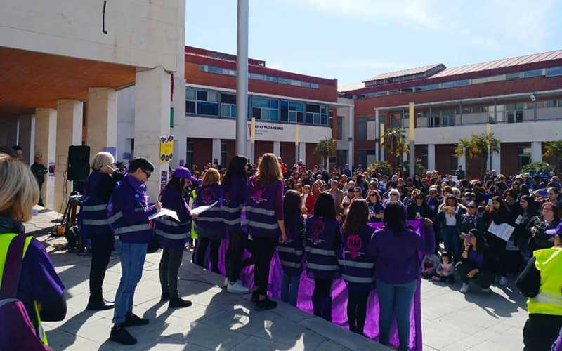 La Asamblea del 8M de Rivas, en la manifestación del pasado 8 de marzo de 2020