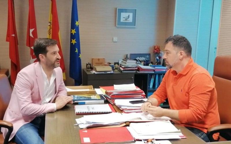 David París y Pedro del Cura, en la reunión de este jueves