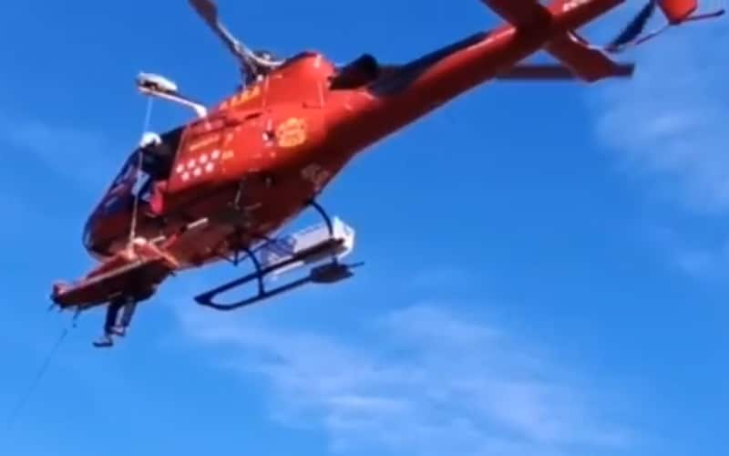 Rescatan a un ciclista que cayó por un barranco en Rivas