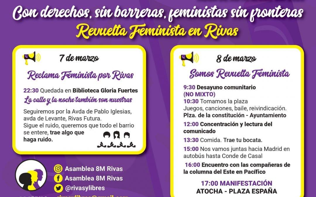 Cómo unirte a la Revuelta Feminista este 8 de marzo en Rivas