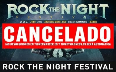 Cancelado el Rock The Night Festival 2020 que iba a celebrarse en Rivas