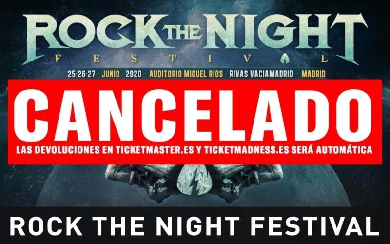 Cancelado el Rock The Night Festival 2020 que iba a celebrarse en Rivas
