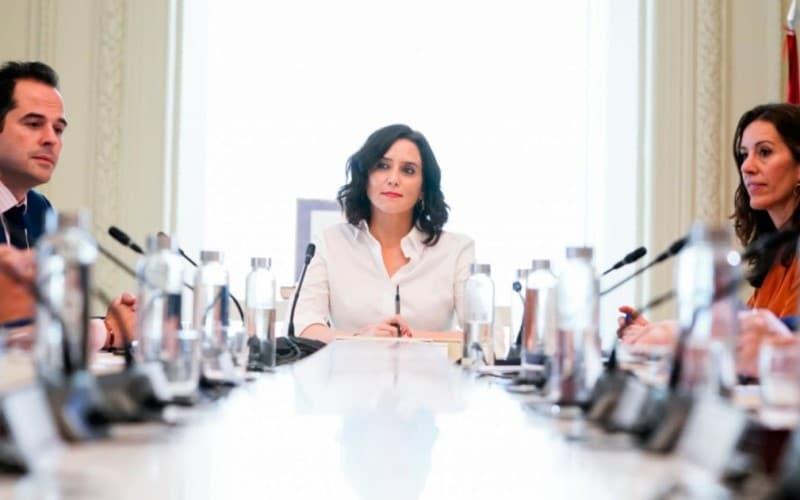 Isabel Díaz Ayuso, en el Consejo de Gobierno de la Comunidad de Madrid