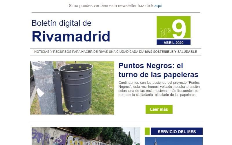 Boletín de Rivamadrid: todo lo que debes saber para hacer un Rivas más sostenible, a un clic