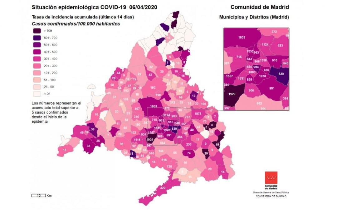Rivas acumula 384 casos de Covid-19, por debajo de la media de casos por 100.000 habitantes regional