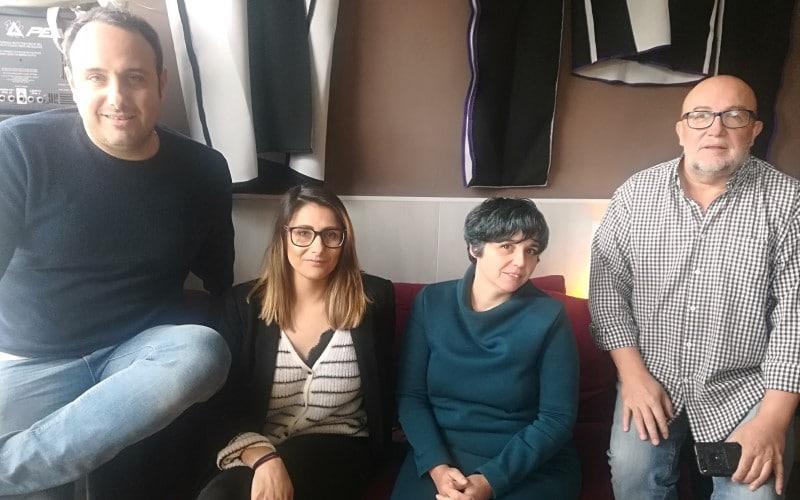 Rubén Muñoz, Sara Muñoz, Mónica García y José Mayoral, miembros de la iniciativa CriptourbanIA