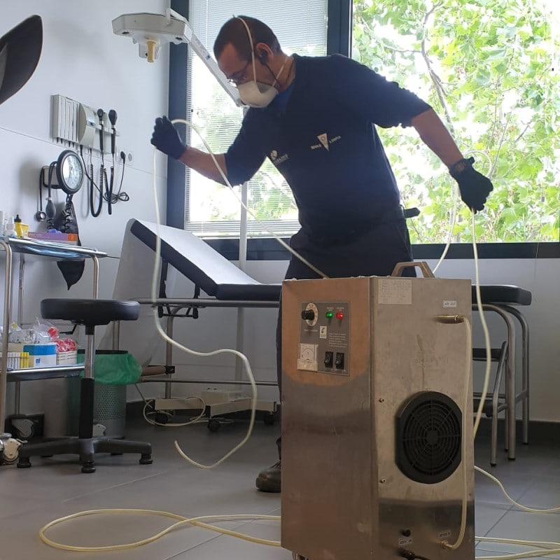 Desinfección con ozono realizada por Rivamadrid