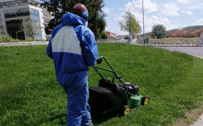 Rivamadrid realiza tareas de jardinería