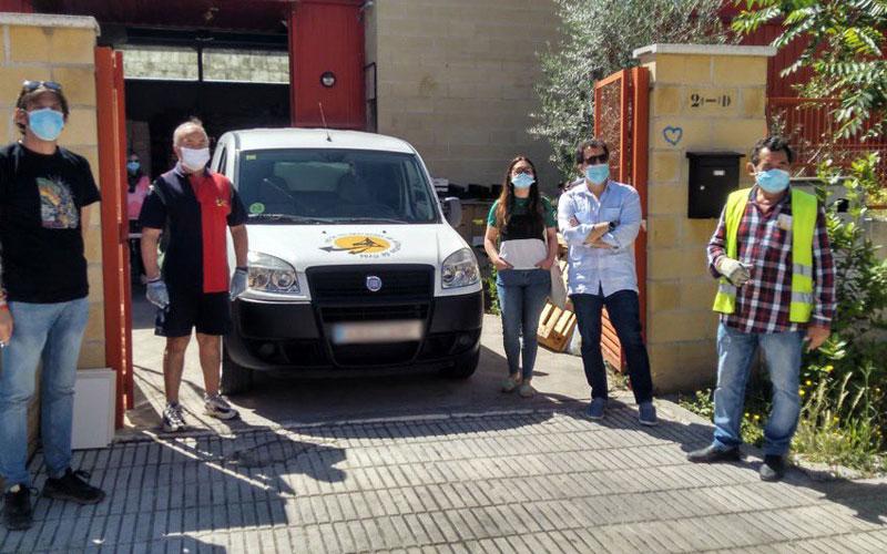 Furgoneta donada por IU Rivas a la Red de Recuperación de Alimentos
