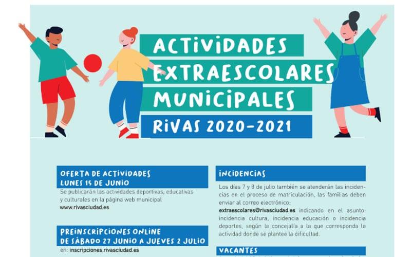 Esta es la oferta municipal de extraescolares en Rivas para el próximo curso: solicitudes, a partir del 27 de junio