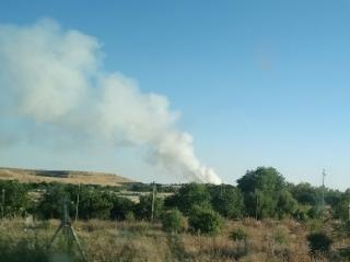 El incendio de pastos de la Cañada, visto desde la A-3