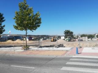 Obras del nuevo supermercado Lidl, junto al H2O