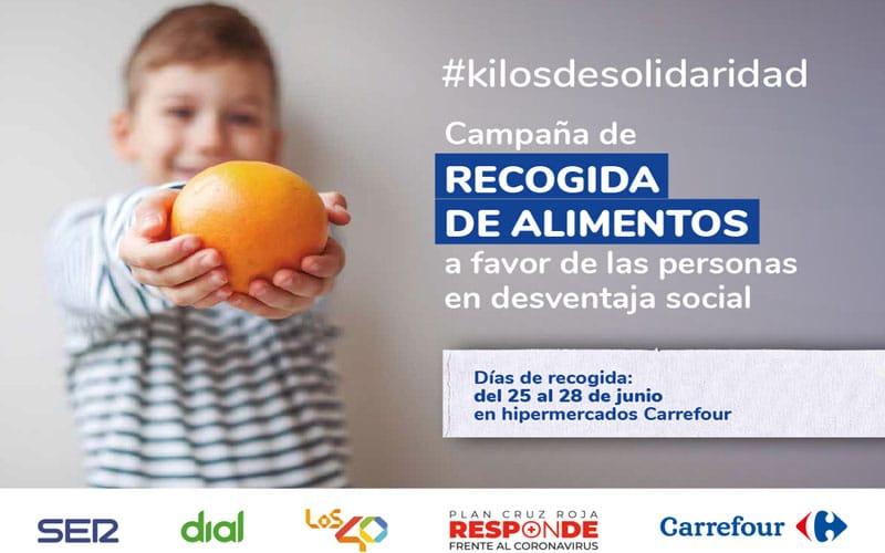 El hipermercado Carrefour de Parque Rivas acoge una campaña solidaria de recogida de alimentos entre el 25 y el 28 de junio